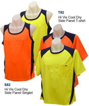100% Cotton Hi Vis Singlet