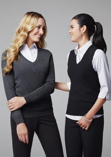 Ladies v neck vest