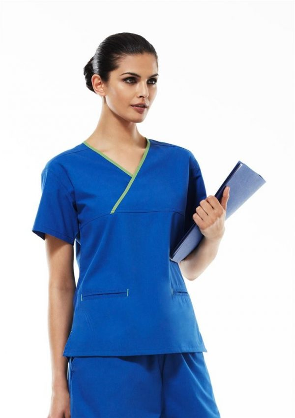 Contrast Ladies Crossover Scrub Top
