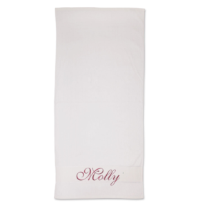 Plain towel embroidered