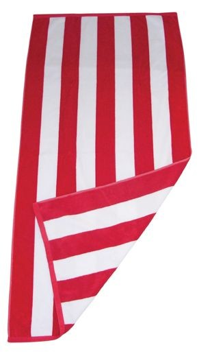 Large Embroided Name + Striped Beach Towel