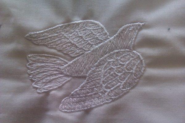 Dove Stole symbol embroidered