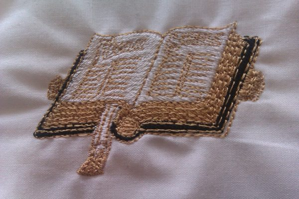 Bible stole symbol embroidered