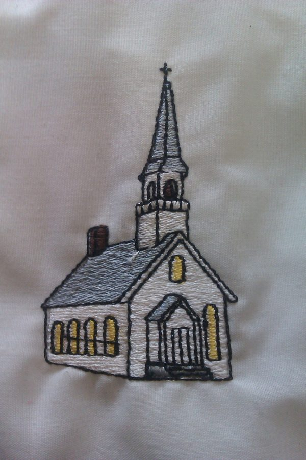 church stole symbol embroidered