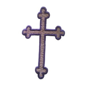 Cross stole symbol embroidered