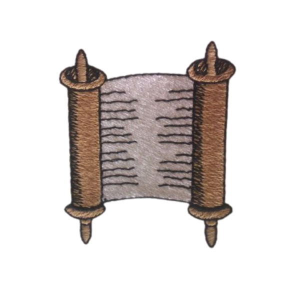 scroll stole symbol embroidered