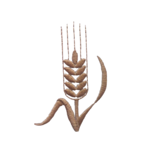 Wheat stole symbol embroidered