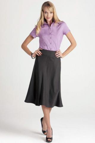 3/4 Length Fluted Lined Skirt