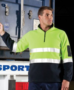 Hi Vis (D&N) 1/2 Zip Polar Fleece