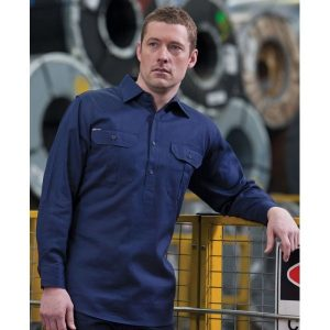 Long Sleeve Close Front Work Shirt