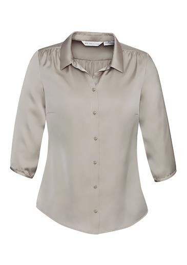 Shimmer Ladies 3/4 Sleeve Blouse Champagne