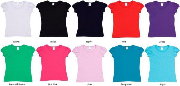 Girls Puff Sleeve T-shirt