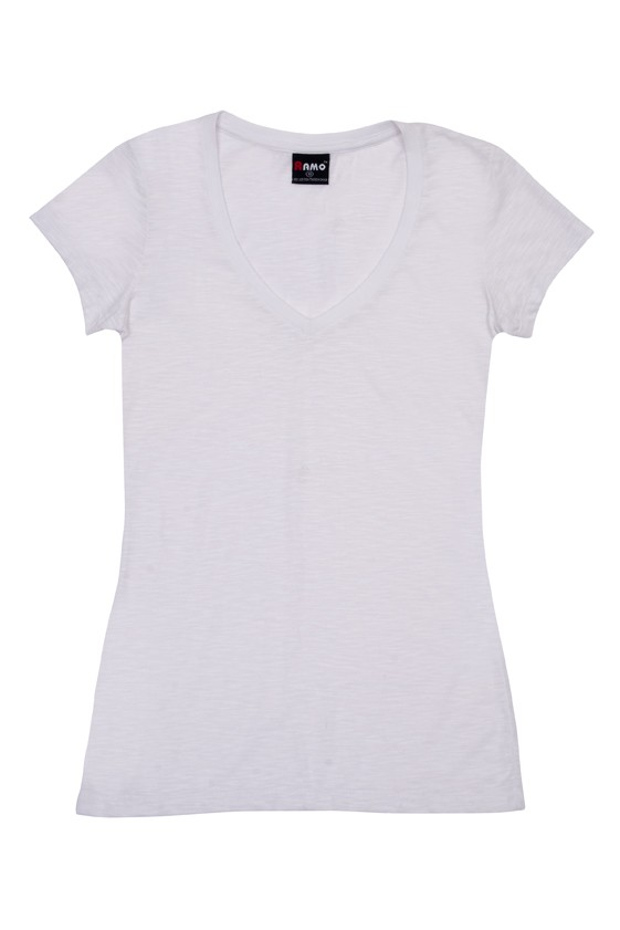 Raw Cotton Wave V Neck