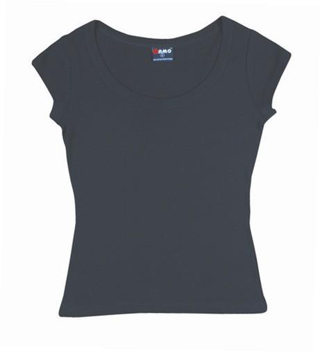 1x1 Rib scoop neck T-shirt