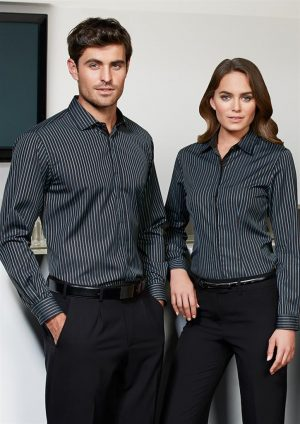 Reno Stripe Cotton-Rich Shirt - Mens
