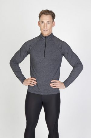 Mens Greatness Heather Half-Zip