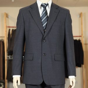 Men's Suit Jacket 100% Wool - Charcoal