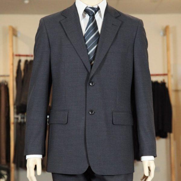 Men's Suit Jacket 100% Wool - Charcoal