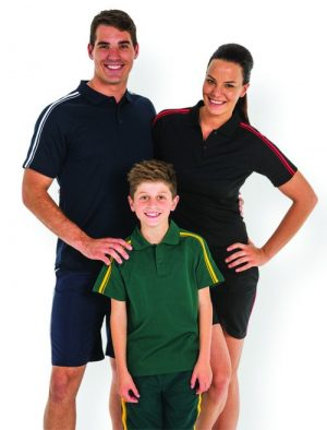 Dual Stripe Polo - Kids/ Adults