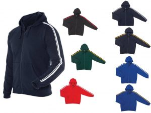 Dual Stripe Full Zip Hoodie - Adults/ Kids/Ladies