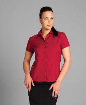Ladies Polyester Shirt - Short Sleeve