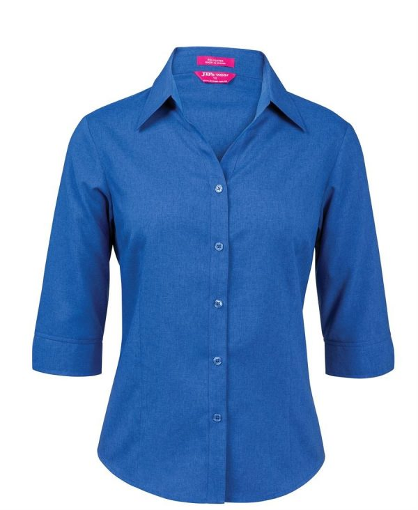 Ladies Polyester Shirt - 3/4 Sleeve