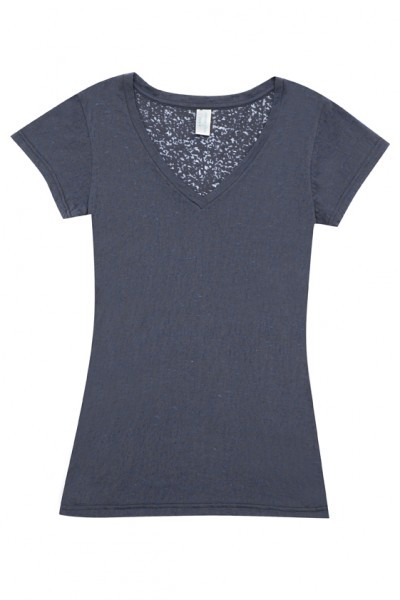 Ladies Burnout V-neck T-shirt