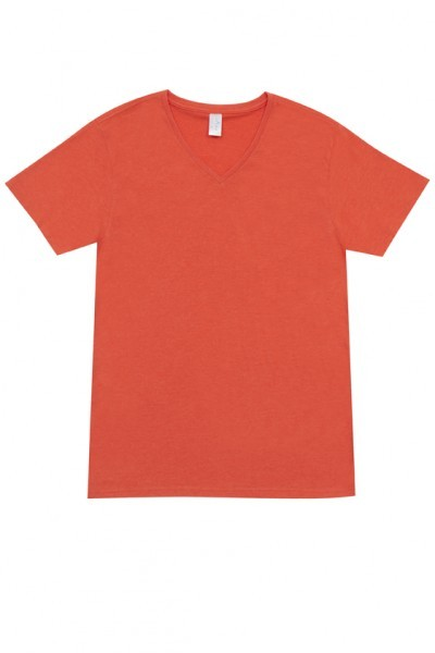 Mens V-neck Marl Tee