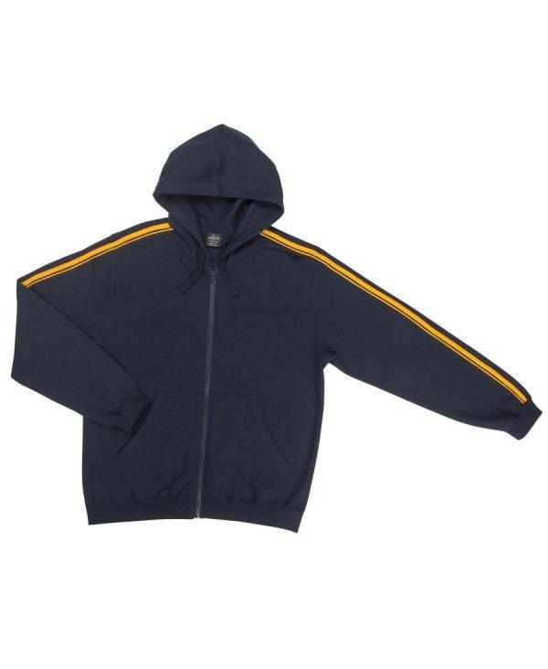 Dual Stripe Full Zip Hoodie - Adults/ Kids/Ladies