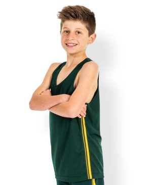 Dual Stripe Singlet - Kids/ Mens