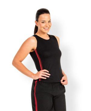 Dual Stripe Singlet - Ladies
