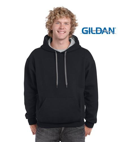 Adult Contrast Hooded Sweatshirt
