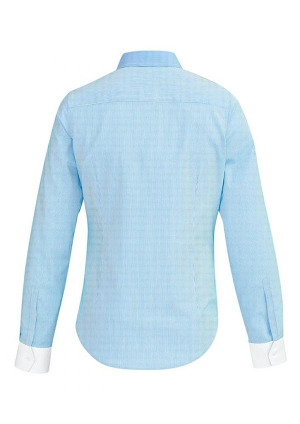 Ladies Fifth Avenue Long Sleeve Shirt Alaskan Blue
