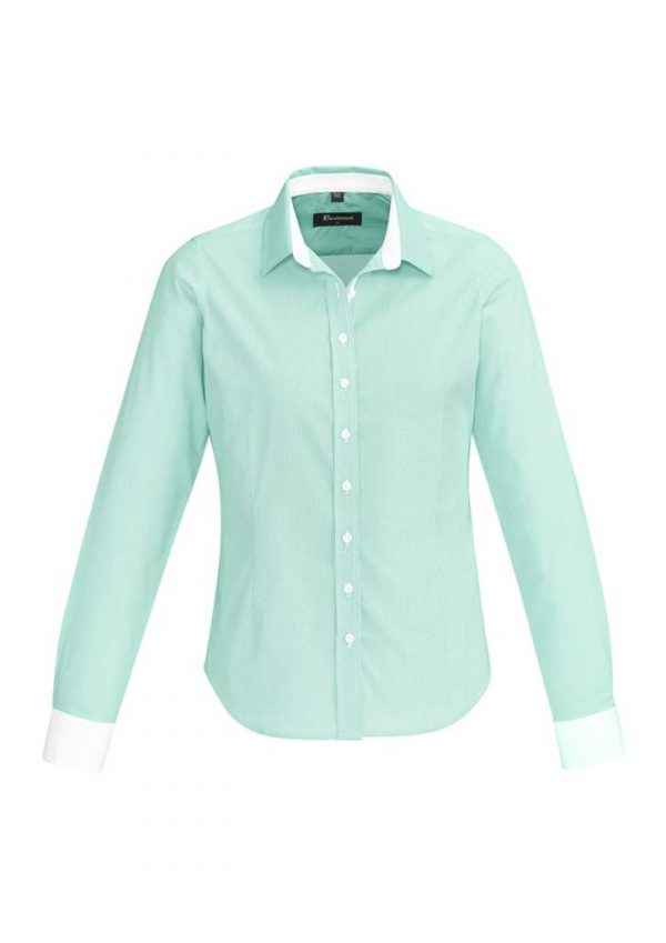 Ladies Fifth Avenue Long Sleeve Shirt Dynasty Green