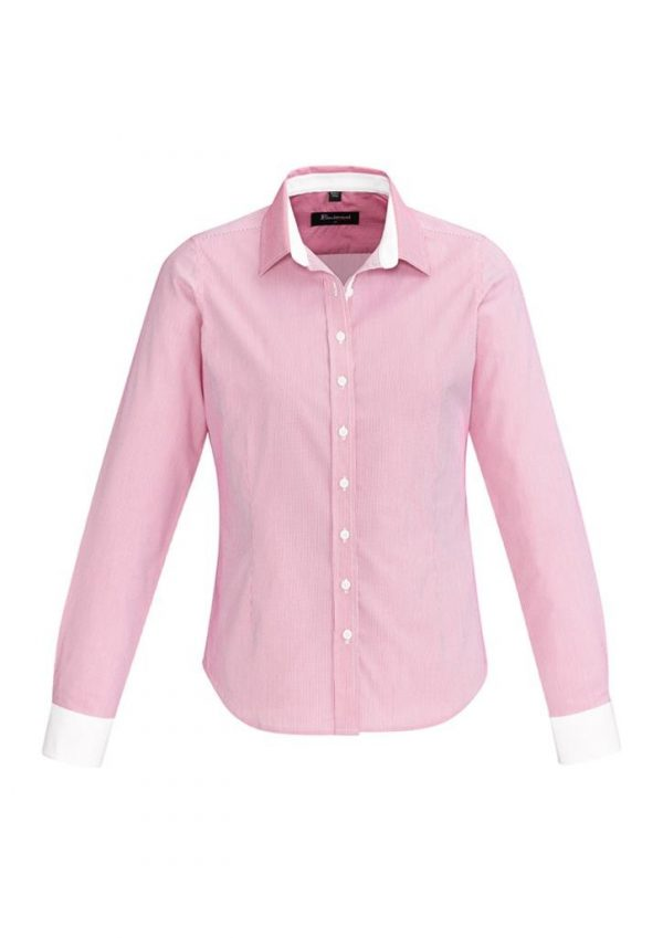 Ladies Fifth Avenue Long Sleeve Shirt Melon