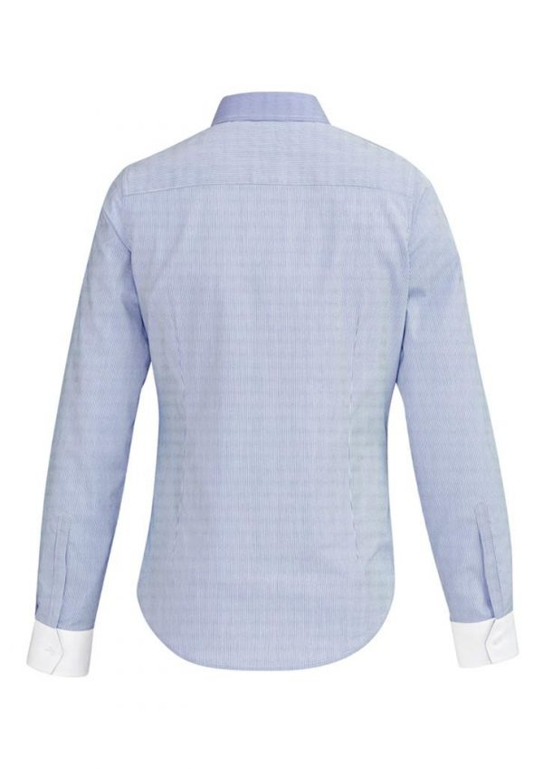 Ladies Fifth Avenue Long Sleeve Shirt Patriot Blue