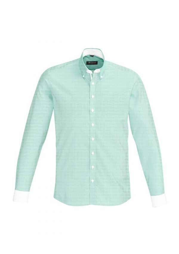 Mens Fifth Avenue Long Sleeve Shirt Dynasty Green