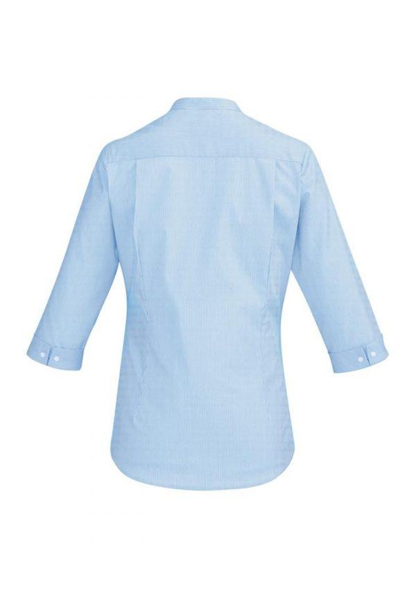 Ladies Bordeaux 3/4 Sleeve Shirt Alaskan Blue