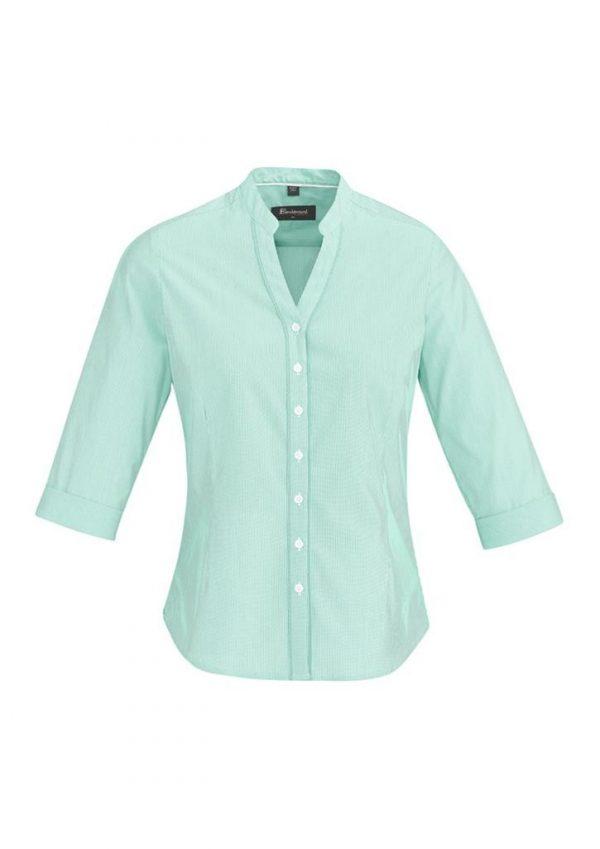 Ladies Bordeaux 3/4 Sleeve Shirt Dynasty Green