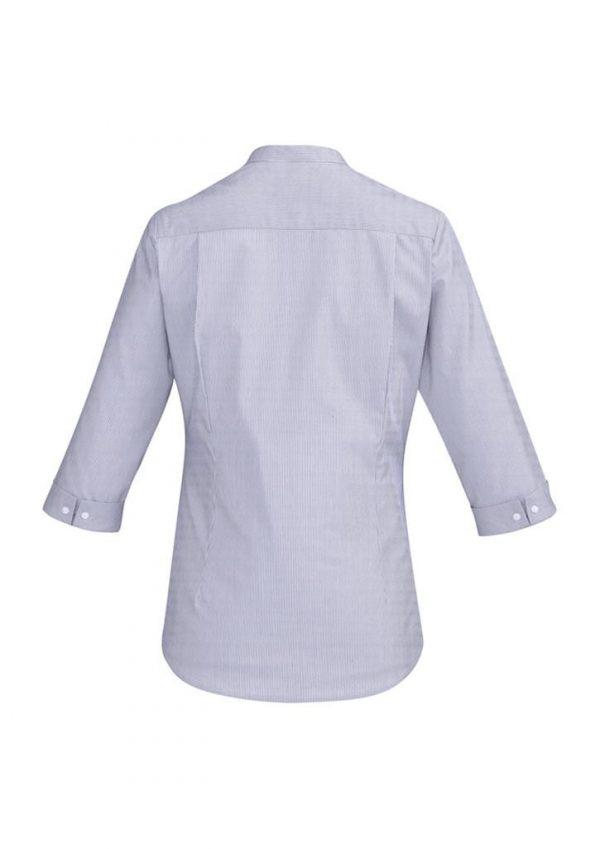 Ladies Bordeaux 3/4 Sleeve Shirt Patriot Blue