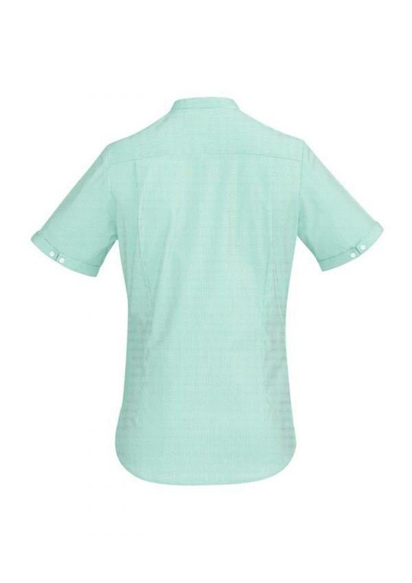 Ladies Bordeaux Short Sleeve Shirt Dynasty Green