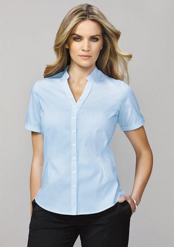 Ladies Bordeaux Short Sleeve Shirt