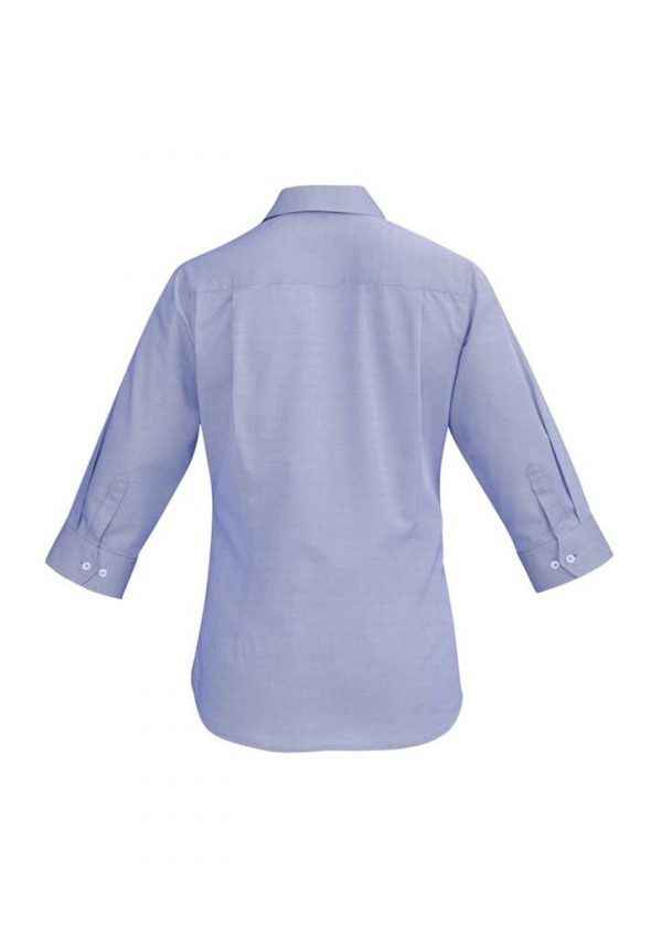 Ladies Hudson 3/4 Sleeve Shirt Patriot Blue