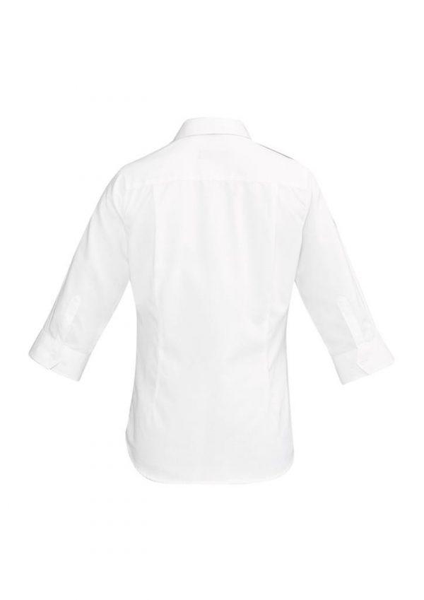 Ladies Hudson 3/4 Sleeve Shirt White