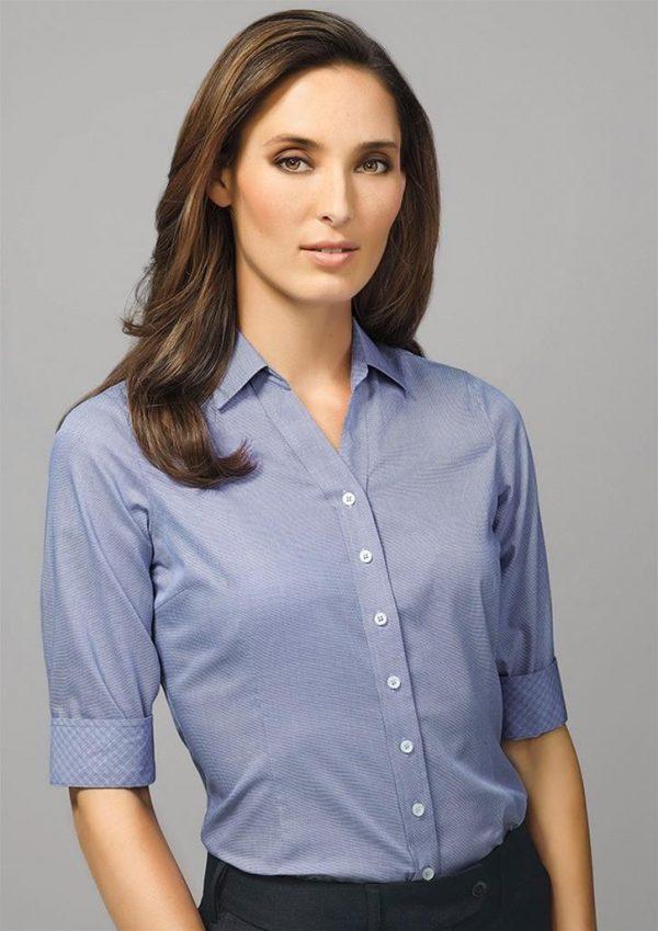 Ladies Hudson 3/4 Sleeve Shirt