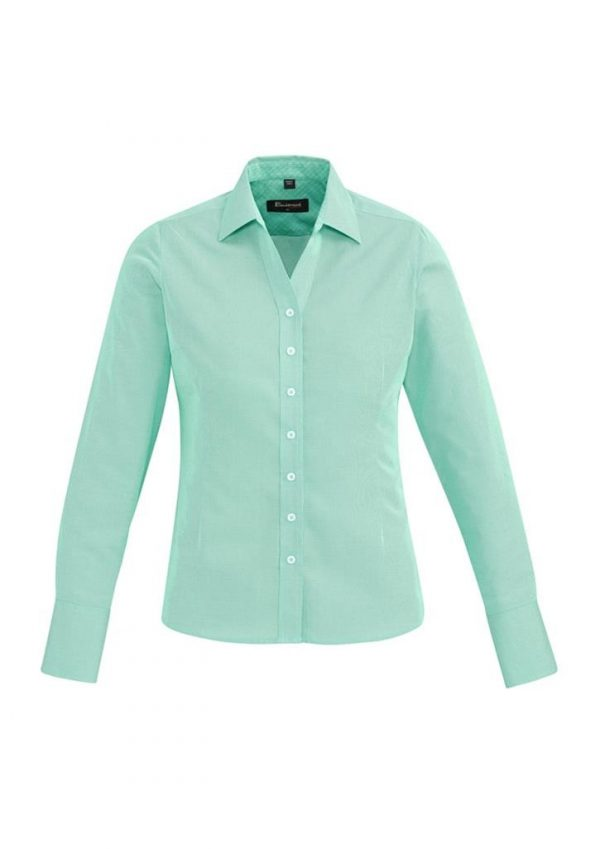Ladies Hudson Long Sleeve Shirt Dynasty Green