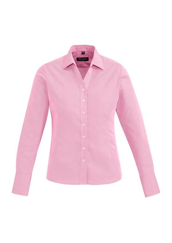 Ladies Hudson Long Sleeve Shirt Melon