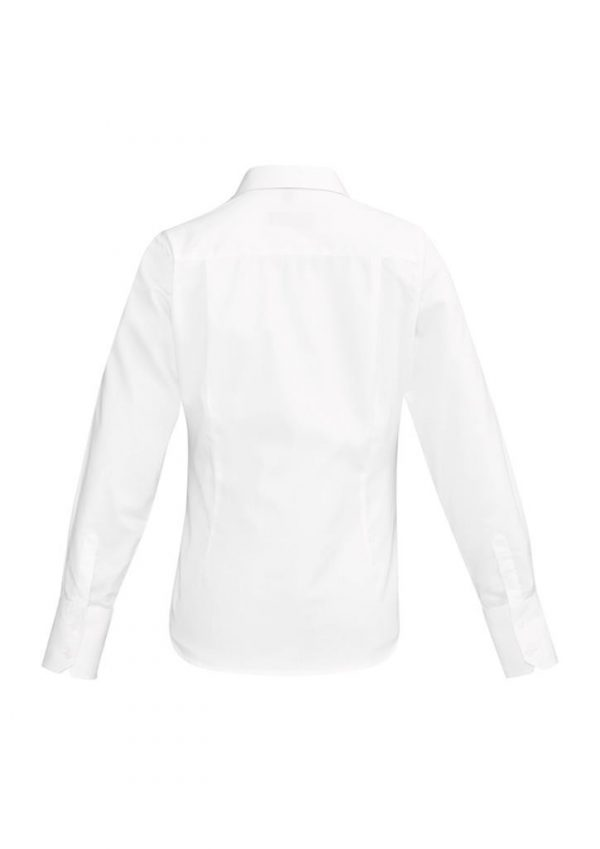Ladies Hudson Long Sleeve Shirt White
