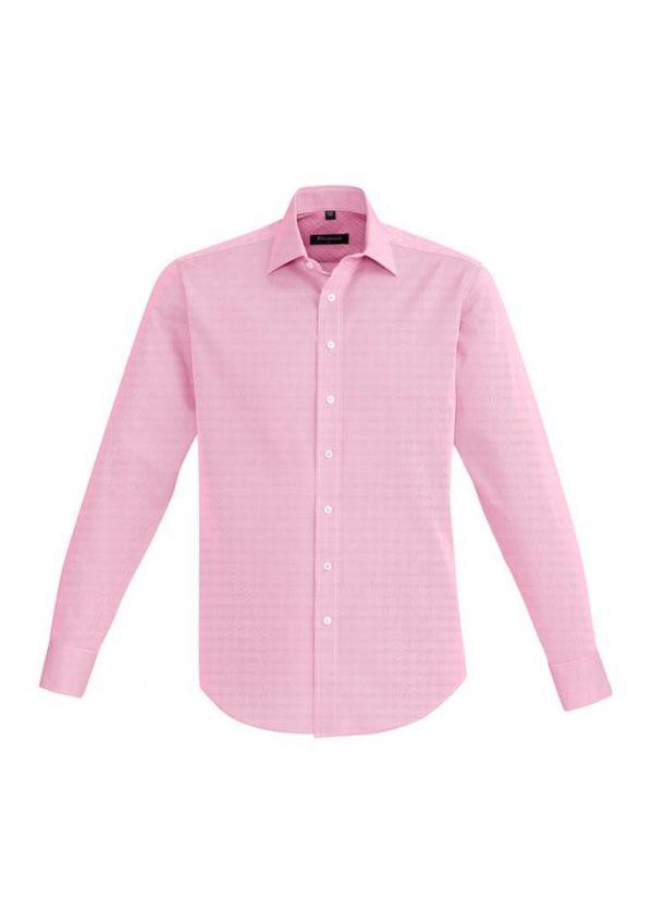 Mens Hudson Long Sleeve Shirt Melon