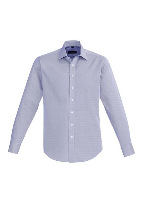 Mens Hudson Long Sleeve Shirt Patriot Blue